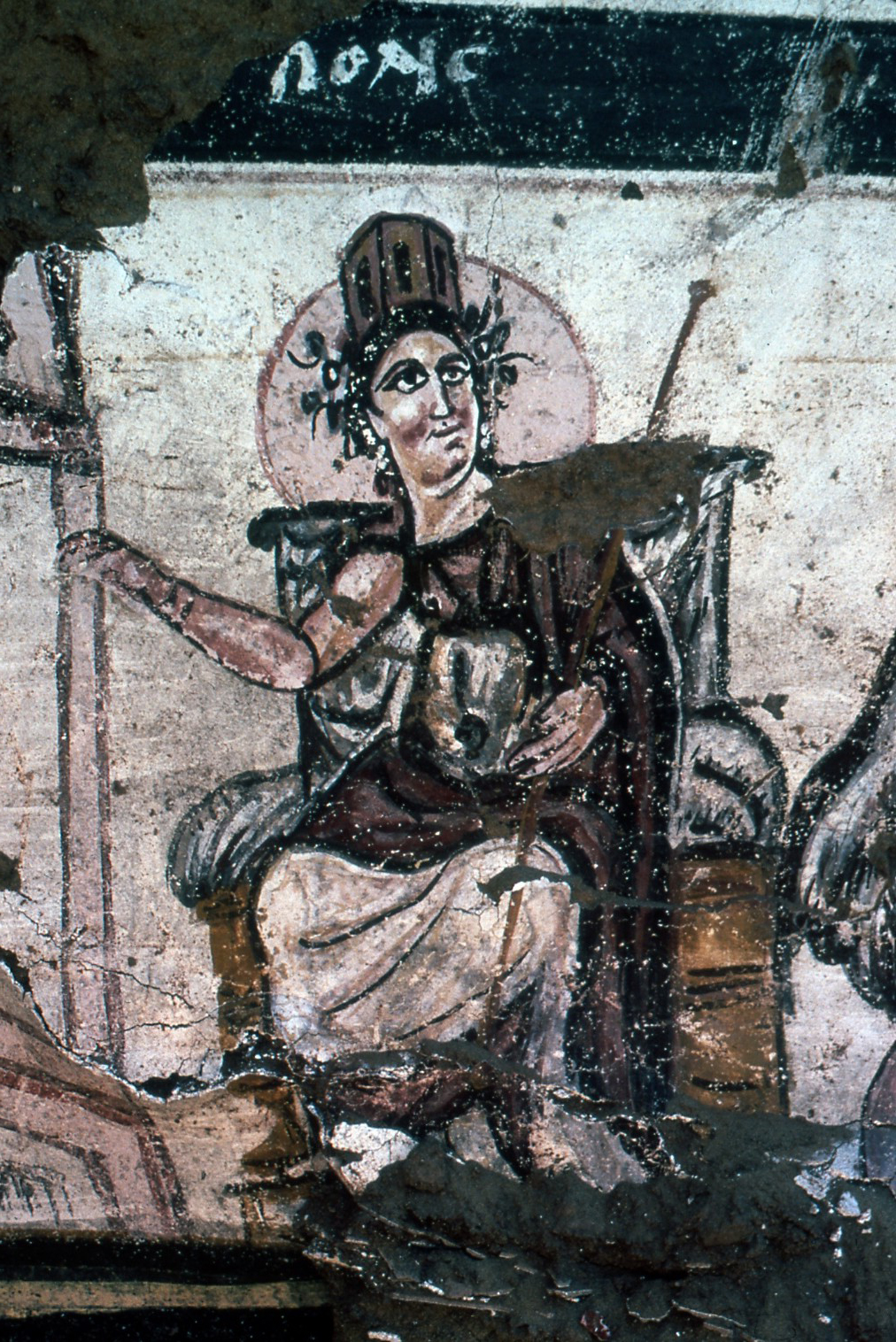 'Polis' representing either Rome or Amheida.
