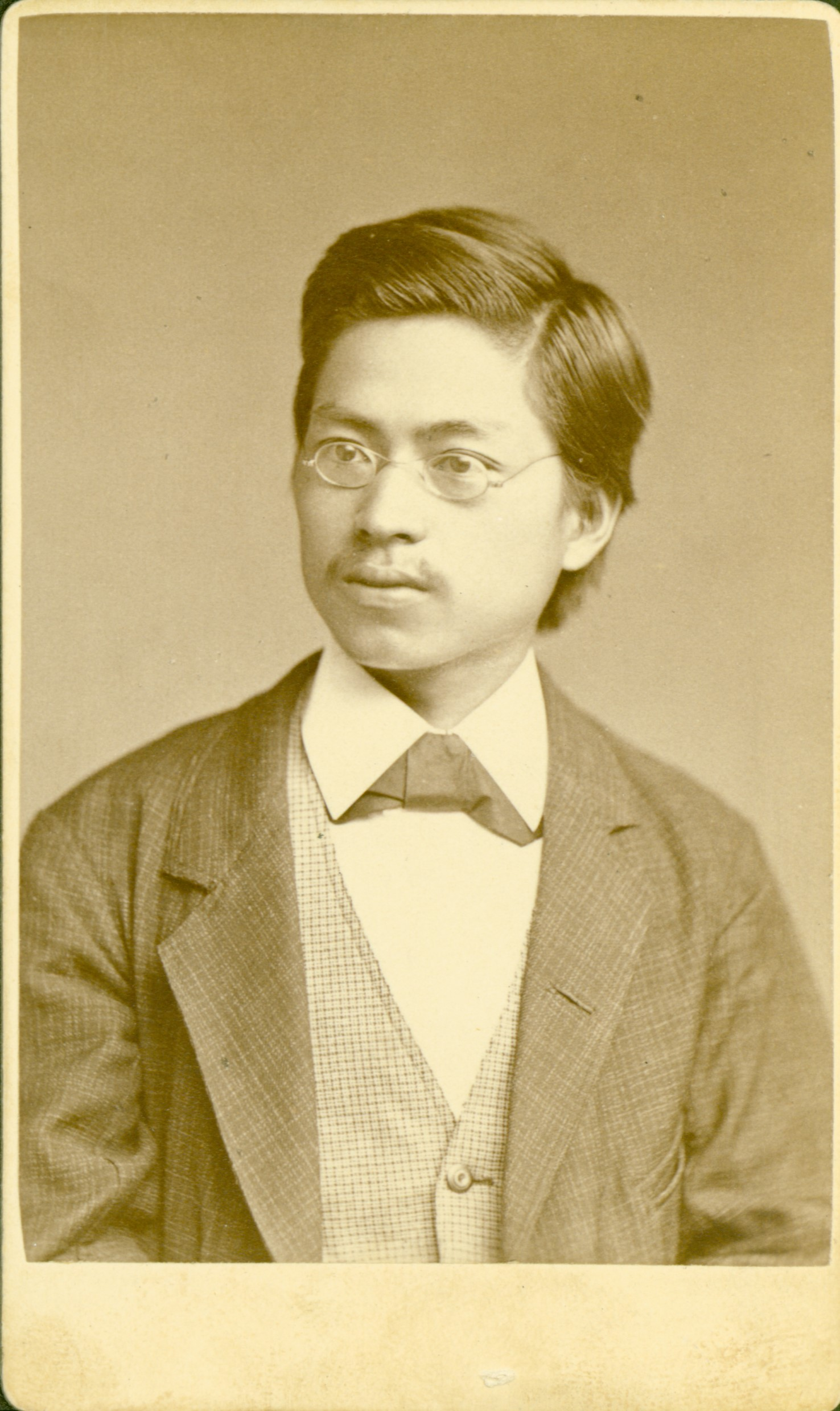 Photograph of Hideo Takamine as a young man.