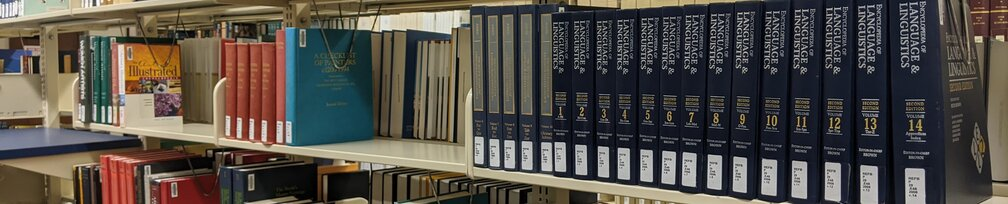 Linguistics books in the Reference section