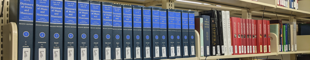 Music books in the Reference section