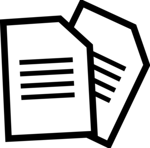 Clip art of two documents