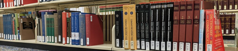 Communication books in the reference section