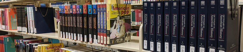 History books in the Reference section
