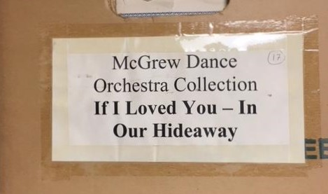 Arranged by song title, this is one of dozens of boxes of parts sets in the McGrew Dance Orchestra Collection.