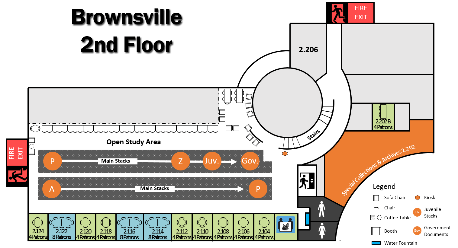 Brownsville Campus 2nd Floor Layout