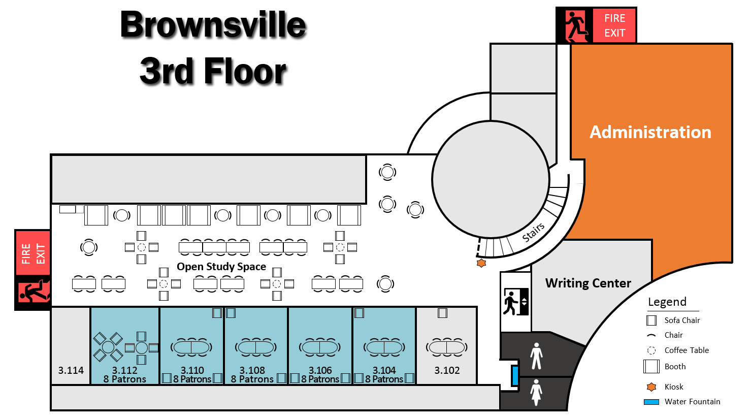 Brownsville Campus 3rd Floor Layout