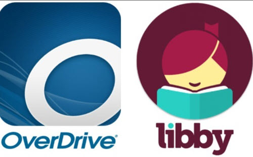 Logos for digital platforms Overdrive and Libby