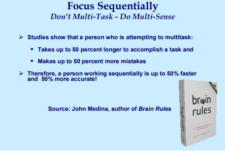 Focus sequentially - don't multi-task
