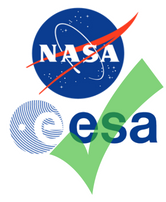 Green check mark over NASA, ESA logos