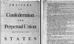 Articles of Confederation cover page and page one