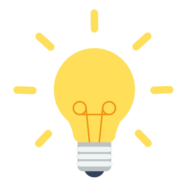 Ideas (light bulb graphic)
