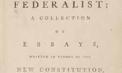 Title page of collected Federalist Papers