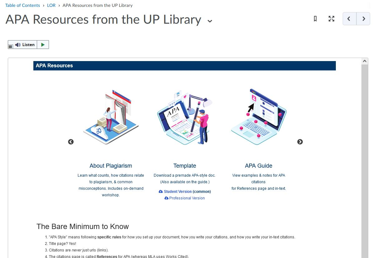 APA resources preview