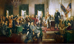 Painting: Scene at the Signing of the Constitution
