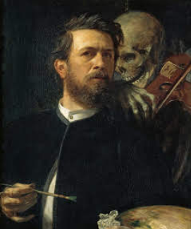 Self-Portrait with Death Playing the Fiddle