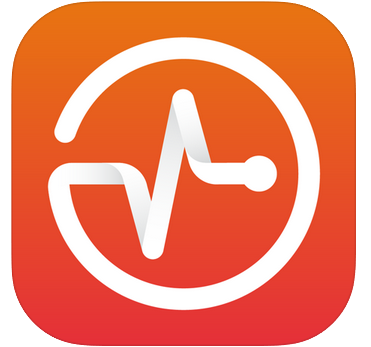 Brightspace Pulse app icon has orange background with a white pulse line half-stylized into a circle