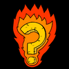 illustration of a question mark on fire (burning question)