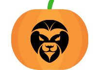 Lion face pumpkin