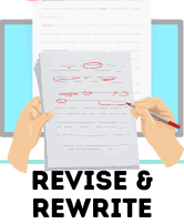 Revise and re-write your paper.