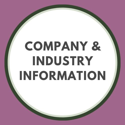 Company & industry information button