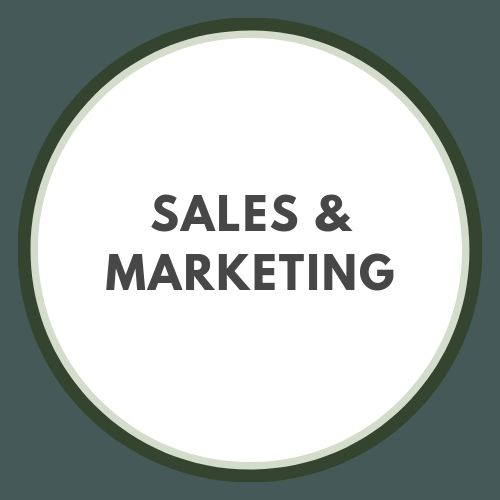 Sales and marketing button