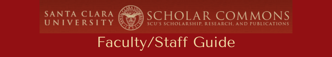Scholar Commons Faculty Staff Guide Header Graphic