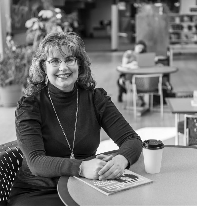 Librarian Cynthia Koman