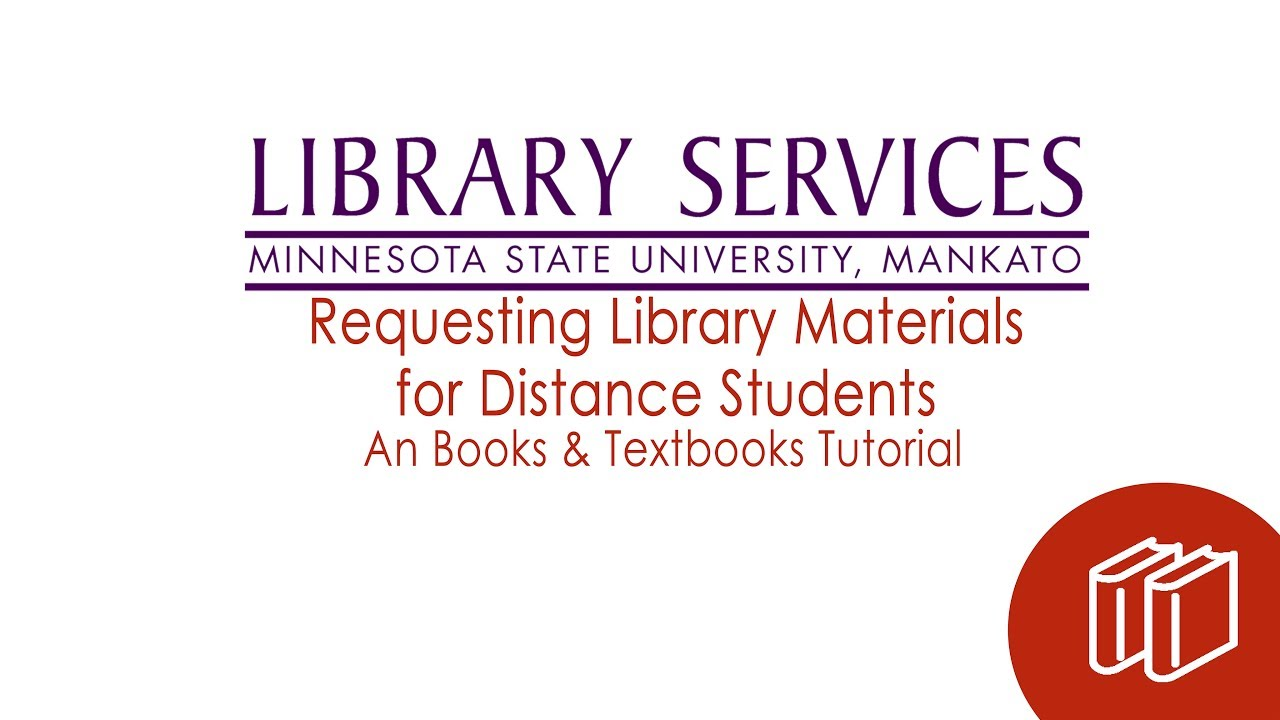 Requesting Library Materials for Distance Learners video screenshot