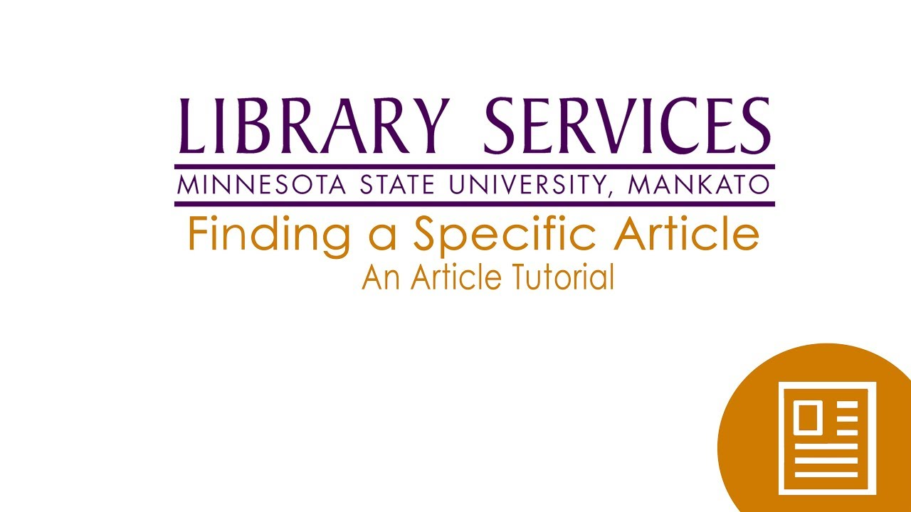 Find Specific Article video screenshot