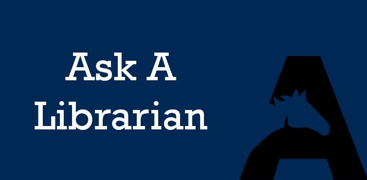 Ask a Librarian page
