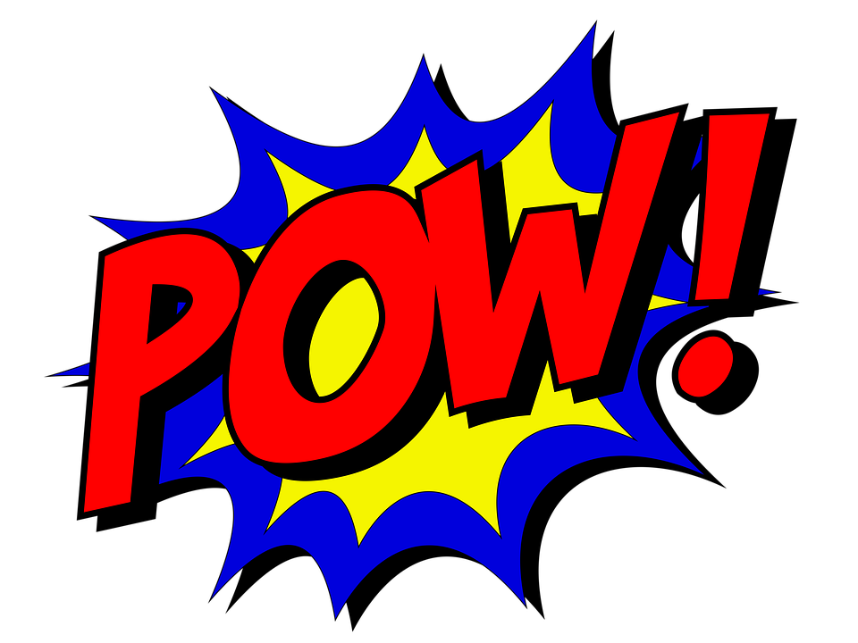 image of comic text bubble with the word pow!