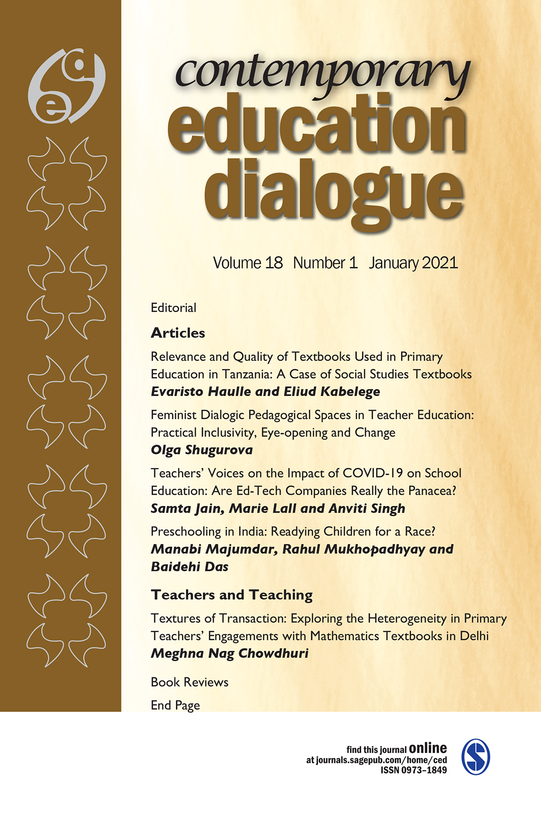 cover of Contemporary Education Dialogue
