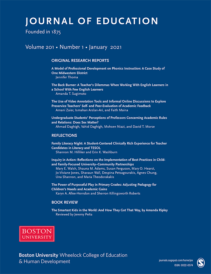 Cover of Journal of Education