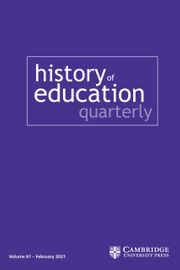 Cover of History of Education Quarterly