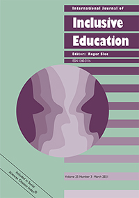 Cover of International journal of inclusive education.