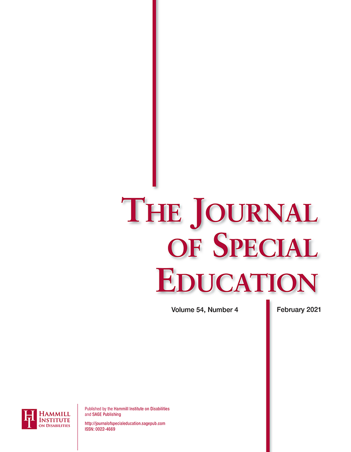 Cover of Journal of Special Education