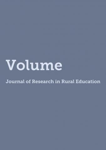 Cover of Journal of Research in Rural Education