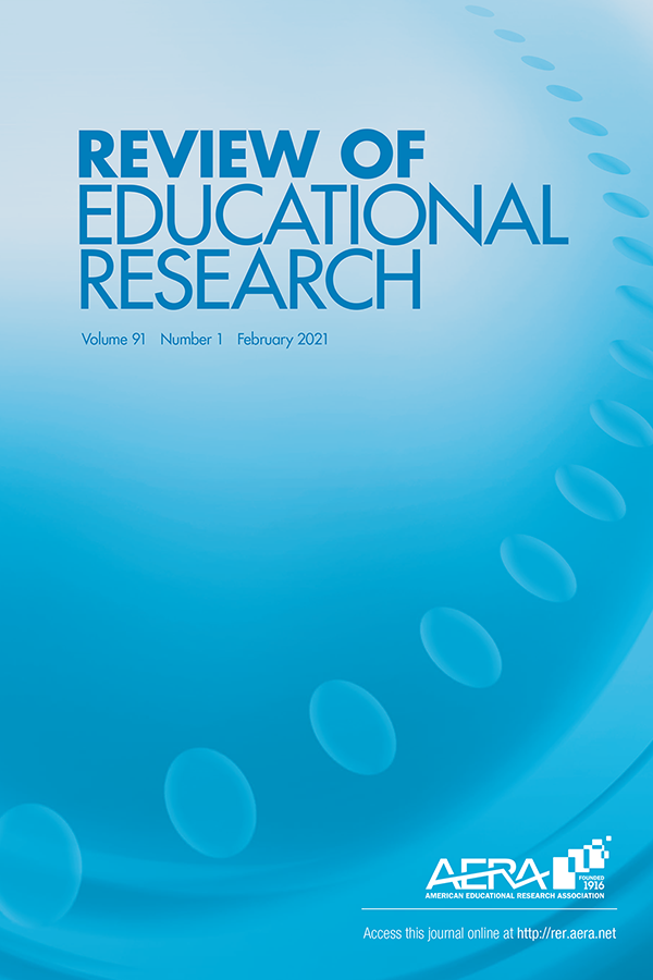 Cover of Review of Educational Research