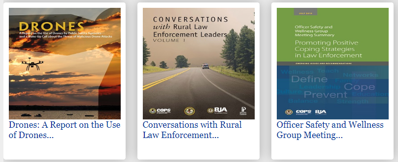 publication covers from COPS publications