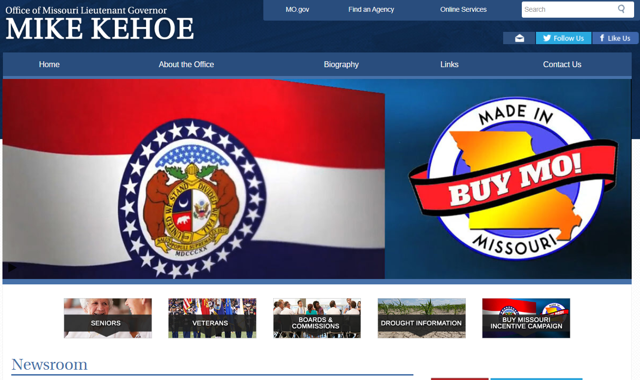 image of Lt. Governor's website. Click to visit website..