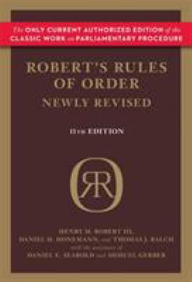 Robert's Rules of Order book jacket