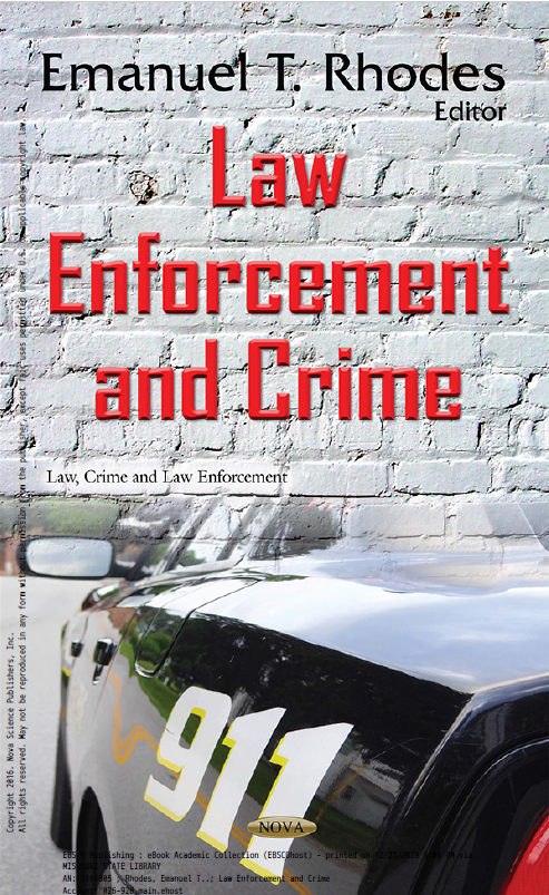 Law Enforcement and Crime book jacket