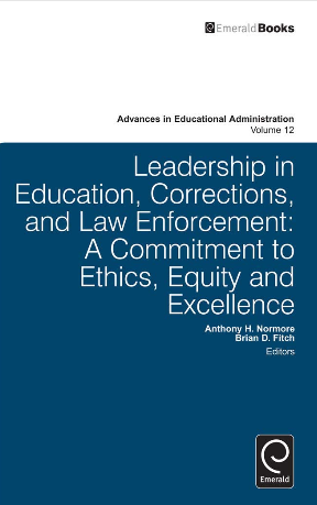 leadership in education, corrections, and law enforcement book jacket