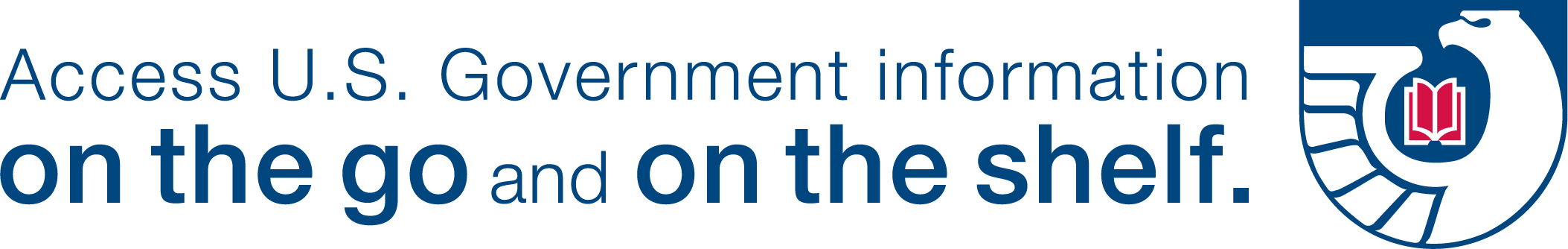 "logo for the FDLP saying ""access U.S. Government Information on the go and on the shelf"""