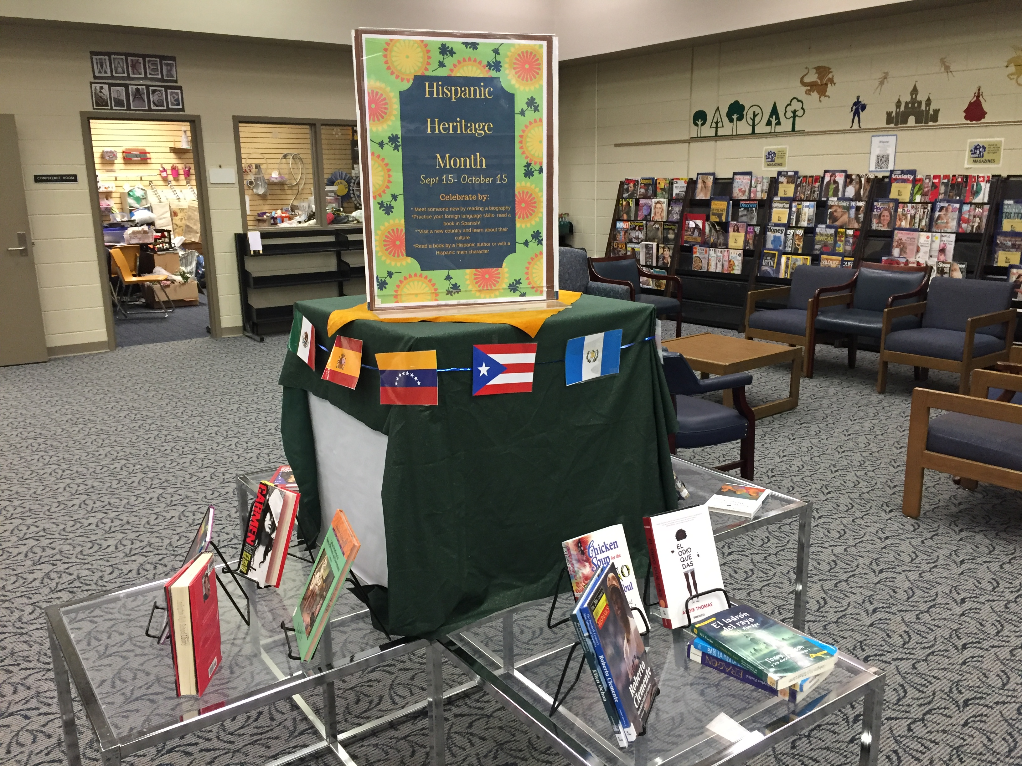 Latino Heritage Month Display
