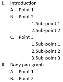 Example of an outline for an essay mla format