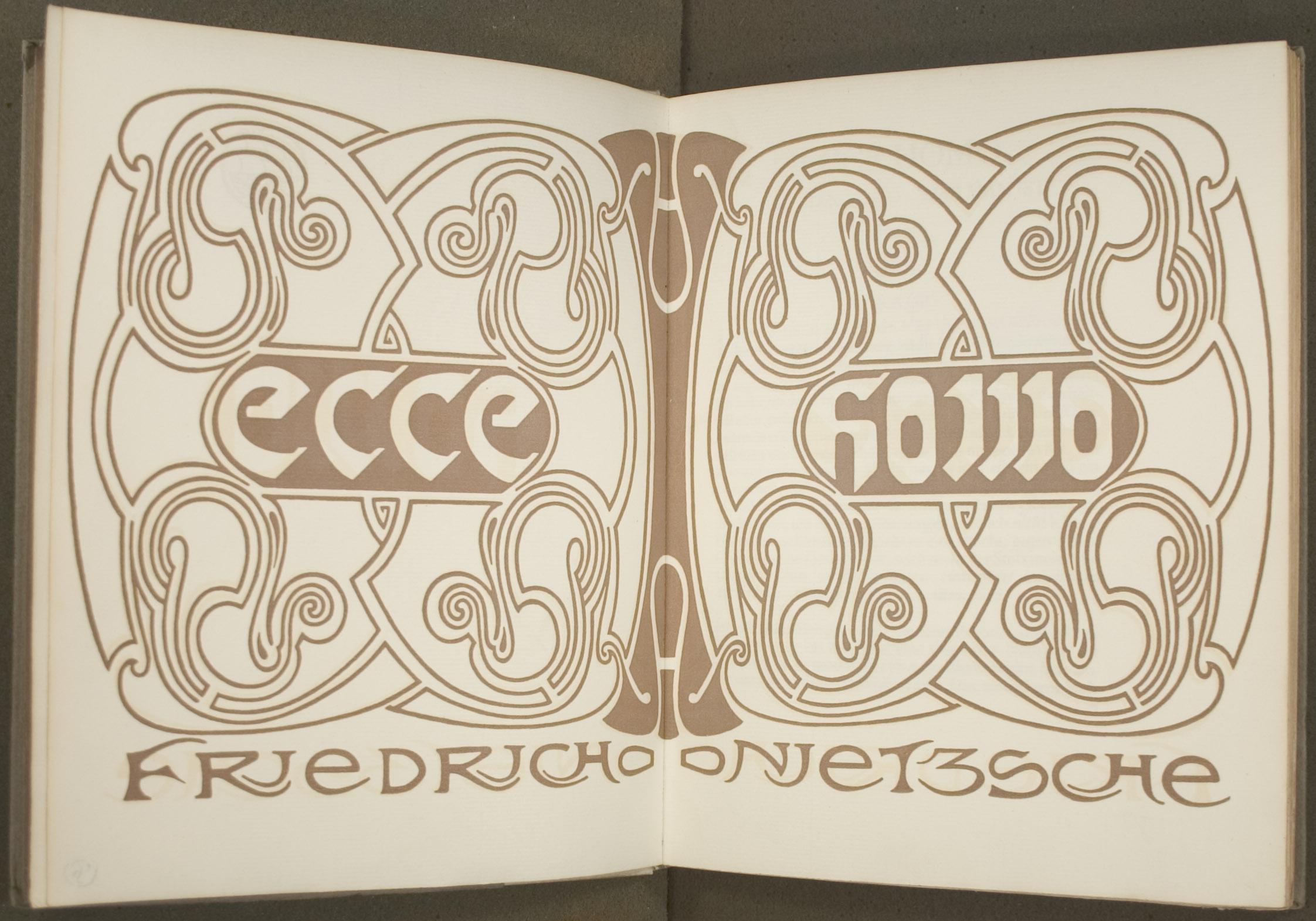 Decorated frontisiece of Nietzsche's Ecce Homo.