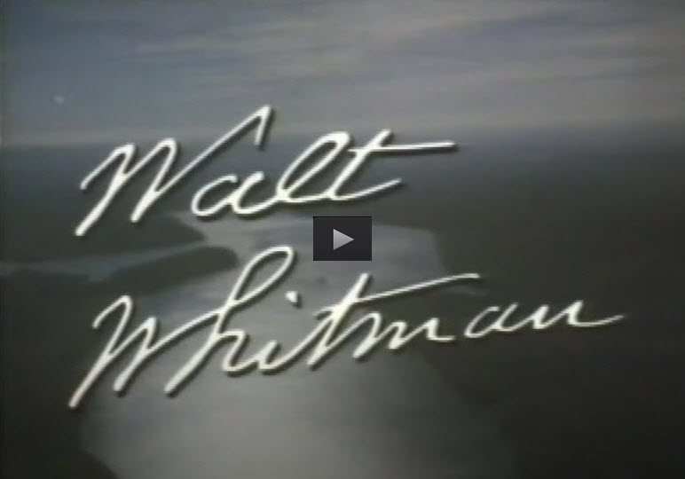 this image of the title screen of the Walt Whitman episode of the Voices & Visions television series has been turned into a link to the video on Internet Archive