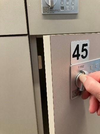 opening locker