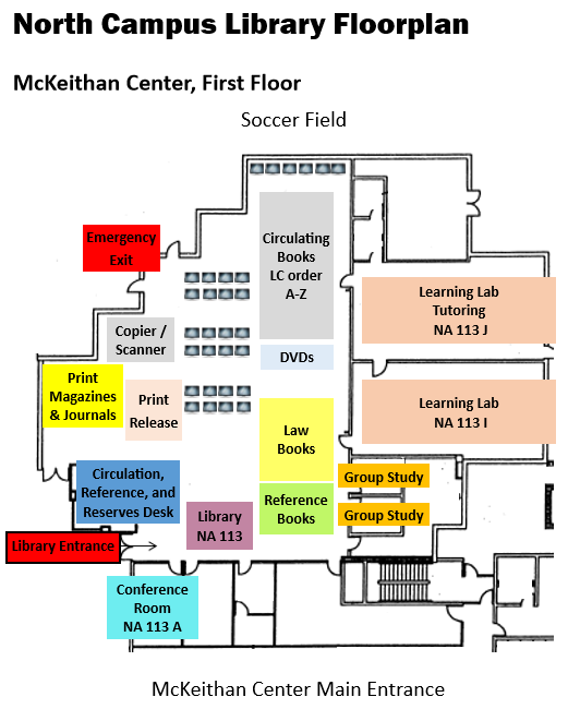 North Campus Library Floorplan
